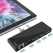 Portable Dock for Surface Pro 5/6 USB Hub Docking Station with 1000M Ethernet Port, 4K HDMI, 2 x USB 3.0 Ports