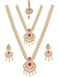 Maalyaa Brass Alloy Ad Full Bridal Set For Women And Girls / Bridal Women.