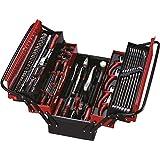 Pard pa50115–119hand-carried profesional caja de herramientas–negro/rojo (119-piece)