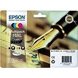 Epson Original T1636 Tintenpatrone Füller, wisch- und wasserfeste Tinte XL (Multipack, 4-farbig) (CYMK)