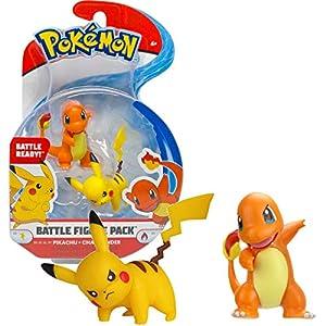 BANDAI - Pokémon-Pack de 2 Figuras 3-5 cm Pikachu & Salamecha, WT95033