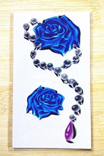 Gymnljy adesivi tatuaggio fiori 3d impermeabile tattoo adesivi tatuaggi temporanei donne tatuaggio finto sticker (confezione da 20 fogli) , 10.5*6cm