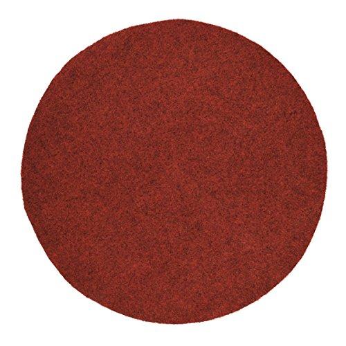 havatex Rasenteppich Kunstrasen mit Noppen 1550 g/m² rund - Anthrazit, Blau, Rot, Braun, Grau oder Beige | wasserdurchlässig | Balkon Terrasse Camping, Farbe:Rot, Größe:300 cm rund -