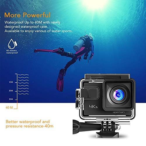APEMAN 4K Action Cam 20MP WIFI Wasserdichte Unterwasser Kamera 40M Digitale Videokamera mit Transportskoffer