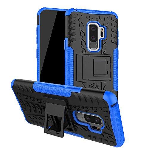 Galaxy S9Plus Fall, S9Plus Fall, Moment dextrad [mit Integriertem Ständer] [Rutschfeste Design] Dual Layer Hybrid Ganzkörper-Rugged [stoßfest] Schutz Cover für Samsung Galaxy S9Plus, Blau (Samsung Phones T-mobile Cell)