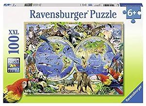 Ravensburger 10540 - Puzzle (100 Piezas), diseño de Animales del Mundo
