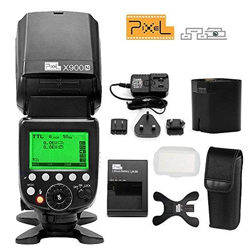 kilos-PIXEL-X900N-1-8000s-HSS-TTL-Flash-senza-fili-di-controllo-Speedlite-3200-mAh-Batteria-al-litio-ricaricabile-per-fotocamere-Nikon-DSLR-con-LED-Light