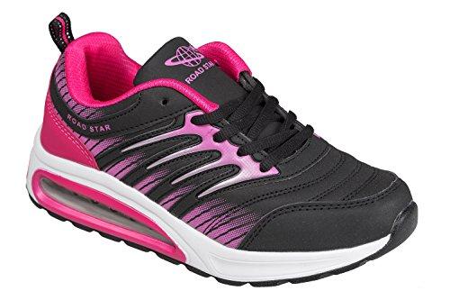 GIBRA® Sportschuhe, sehr leicht und bequem, schwarz/pink, Gr. 36