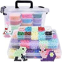 Newin Star DIY Abalorios Cuentas de Agua/Aquabeads 4000 Perlas 10 Colors,Puzzle 3D,Hama Beads con Muchos Rompecabezas Inteligencia Juguetes educativos para niños