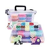 Recambio de cuentas de más de 4000 piezas de perlas mágicas para niños para manualidades, para principiantes, 10 colores
