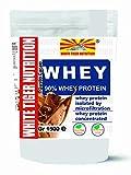 Proteine 90 WHEY Isolate con BCAA Gr 5000 Gusto Cacao Senza Aspartame Aumento Massa Muscolare Rilascio Veloce Massa Magra Bodybuilding Recupero muscolare Protein White Tiger