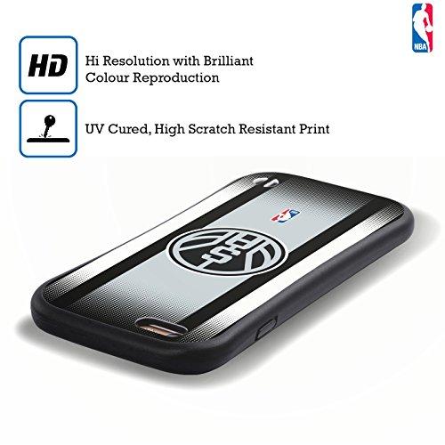 Ufficiale NBA Semplice San Antonio Spurs Case Ibrida per Apple iPhone 6 Plus / 6s Plus Gradiente Mezzotono