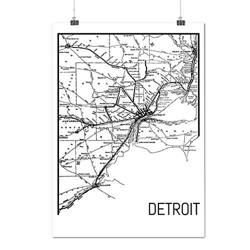 city-map-street-detroit-art-work-matte-glossy-poster-a3-42cm-x-30cm-wellcoda