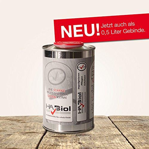 Holzöl Holzpflegeöl HABiol 0,5l Arbeitsplattenöl Leinöl für Buche Teak Eiche