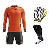 Zeus KIT GK Paros Babykleidung + Socken + Handschuhe–Fußball–Training–Verteidigung der Tür, Fucsia-Nero, XL