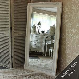 Très Grand Miroir mur/sol Blanc