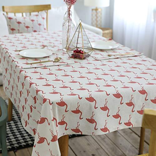 ZYLBDNB Gedruckte Tischdecke, Flamingo Muster Rechteck Tischdecke Persönlichkeit Tischabdeckung Wohnkultur Wasserdicht für Zuhause für Küche Esszimmer Tischdekoration,90 * 90cm (Küche Rechteck Tischdecke)