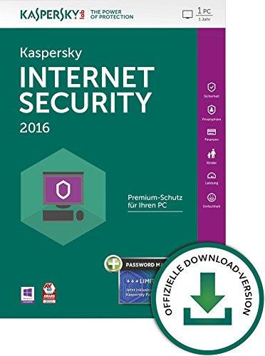 Kaspersky Internet Security 2016 + Kaspersky Password Manager 1 User [PC Download]