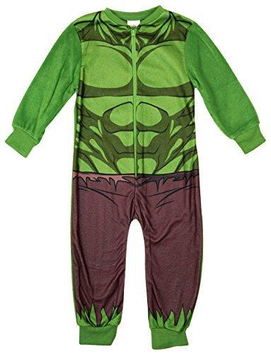 Image of Boys Incredible Hulk Muscle Body Costume Fleece Sleepsuit Romper Onesie sizes from 2 to 8 Years