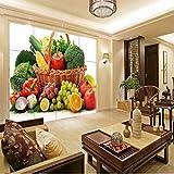 Rureng Fototapete Gemüse Obst Tv Wände Restaurant Tapete Wohnzimmer Schlafzimmer Tapete Hochwertige Wandgemälde-350X250Cm