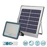 Faro LED da Esterno 100W 6000k Bianco IP65 Impermeabile Freddo con Telecomando Pannello Solare FOTOVOLTAICO ENERGIA