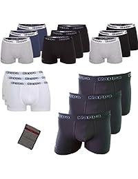 Kappa Boxershorts Ziatec Edition, Boxer-Short in den Größen S, M, L, XL, 2XL, 3XL, 4XL, Unterhose, Unterwäsche 3er, 6er, 9er oder 12er Pack, Farbe:schwarz, Größe:3 Stück L