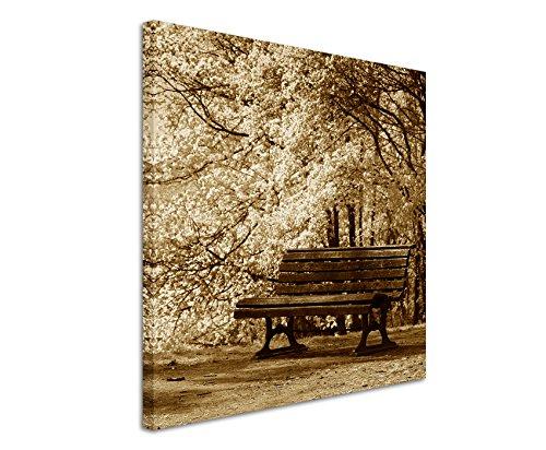 60-x-60-cm-murale-foto-su-tela-in-seppia-fioritura-alberi-bank