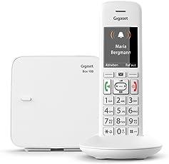 Gigaset Telefon schnurlos mit großen Tasten - Seniorentelefon mit SOS-Funktion - Einfache Bedienung - Farbdisplay - Mobilteil weiß