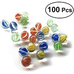 Surtido variado de 100 canicas