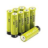ELZO AA Wiederaufladbare Batterien 1,2V/2800mAh Vorgeladen Ni-MH Rechargeable Akku mit Aufbewahrungsbox, 8-er Pack