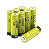 ELZO Vorgeladene NI-MH AA Akkus, 1,2V/2800mAh Akkubatterien Rechargeable Akku mit Aufbewahrungsbox, 8-er Pack