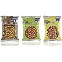 Moments to Cherish Roasted Chana Hing Jeera, Roasted Chana Lime Puddina, and Roasted Chana Yellow, 270 grams (Combo of 3)