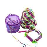 Bolsa de almacenamiento,STRIR Bolsa de almacenamiento de hilo para tejer de lana (Púrpura)