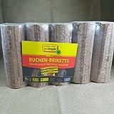 Holz-Briketts,100% Buche,deutsches Produkt,3 x 8kg Paket (24kg)