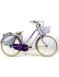 "Bicicleta 1"" V"" ADRIATICA Modelo HOLLAND LADY Color Morado y Violeta"