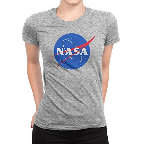 BLAK TEE Classic Space NASA Logo Damen T-Shirt M (Bee Light T-shirt)