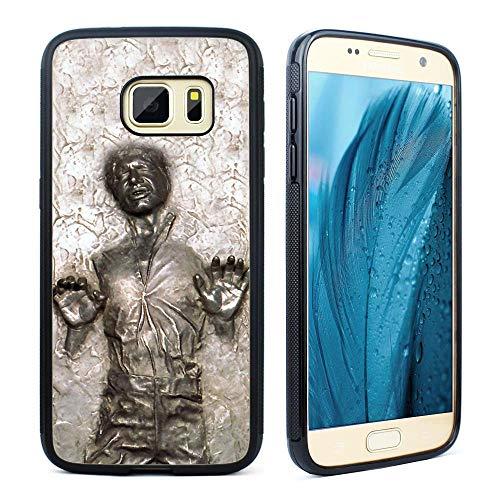 msung Galaxy S7, Han Solo Frozen in Carbonit-Design, Hybrid-TPU-PC-Bedruckte Abdeckung mit Aluminium-Metall, stoßdämpfend, Kratzfest ()