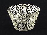 50pcs Weisses Blatt Muffin Tasse Kuchen Wrapper Wrap Schalen Partei Liner Dekoration