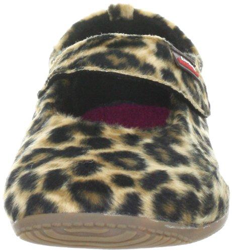 Living Kitzbühel Leopard 2031, Ballerines fille Marron-TR-FI