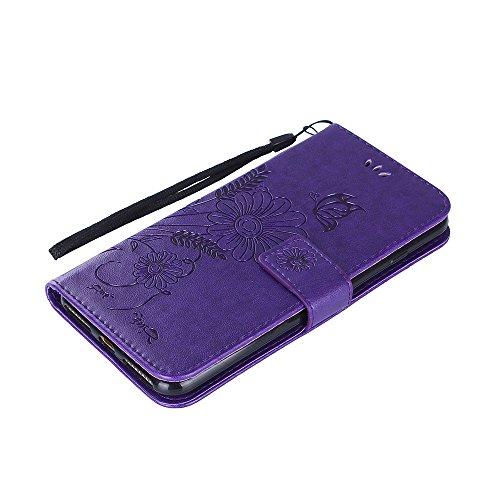 ZeWoo Folio Ledertasche - R160 / Ameisen aus (Rose Gold) - für Apple iPhone 7 Plus (5,5 Zoll) PU Leder Tasche Brieftasche Case Cover R156 Plum Blume