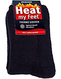 BRUBAKER Chaussettes thermiques 'Heat my Feet' - Lot de 2 Paires - Ultra chaudes et confortables - Unisexe