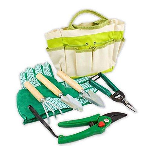 lantelme-5124-plantas-jardin-juego-de-herramientas-con-maletin-de-poliester-metal-madera-7-piezas