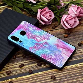 alsatek TPU Protective Case for Galaxy A8 Star (A9 Star) with Rosette Flower Design