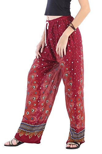 CandyHusky -  Pantaloni  - Stampa animalier - Donna Peacock 2 Red