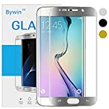 Bywin 3D Incurvé Protection écran en TPU pour Samsung Galaxy S6 Edge (Silver) Ultra-mince 0.2 mm Meilleur Film Protégé en Plastique de (Not Tempered Glass Screen Protector) (non vitre verre trempé )