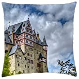 wonderful burg eltz castle in germany - Throw Pillow Cover Case (18