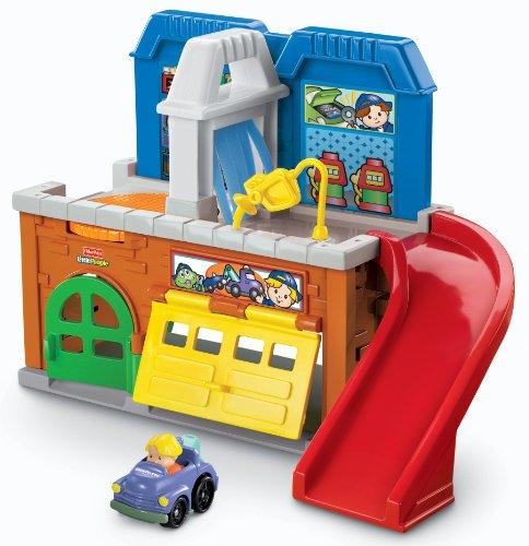 Große Garage, Türen (Mattel Fisher-Price W8687 - Little People Waschanlage)