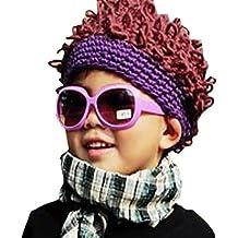 Afro de punto LOCOMO Rib Bob de ganchillo para los bebés vestido de payaso de peluca