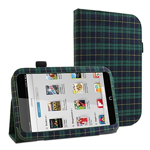 gmyler-folio-case-classic-for-barnes-noble-nook-hd-7-grun-royal-stewart-pattern-stoffe-cover-briefta