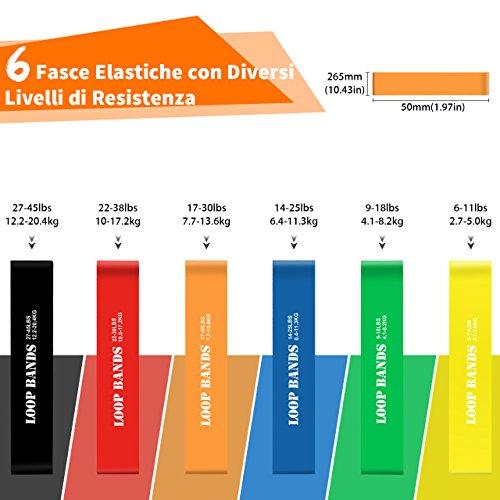 Zoom IMG-1 topelek 6 pezzi elastici fitness